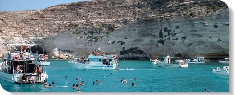 Gite in barca a Lampedusa