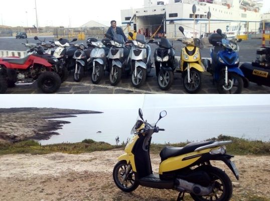 Noleggio scooter Lampedusa